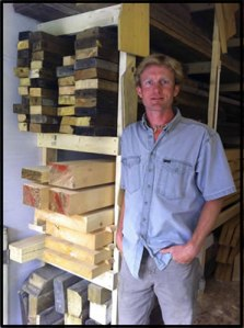 Chad Schuett in his workshop